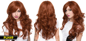 Brown Long and Wavy Wig