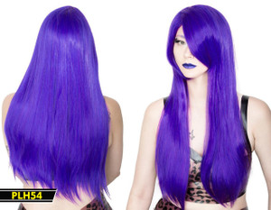 Purple Long Straight Wig
