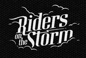 "Riders on the Storm Logo 4.5x3"" Printed Patch"