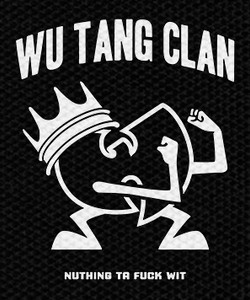 "Wu Tang Clan Nuthing Ta Fuck Wit 3.75x4.5"" Printed Patch"