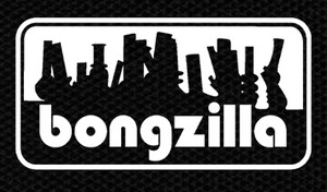 "Bongzilla Bong Logo 4x2"" Printed Patch"