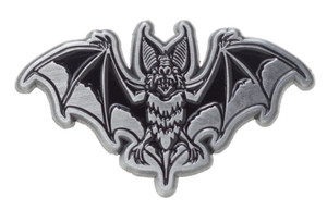 "Sourpuss - Bat Attack Metal Pin 1.25"" x .75"""