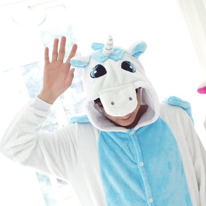 Blue Unicorn Kigurumi Adult Size Onesie