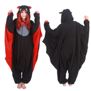 Adult Size Bat with Bow Tie Kigurumi Onesie