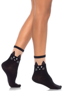 Black Cat Anklet Socks