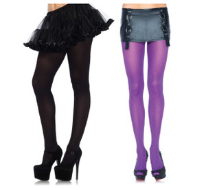 Tights Opaque Solid Nylon Spandex Queen