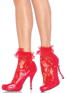 Lace Anklet with  Ruffled Cuff Socks