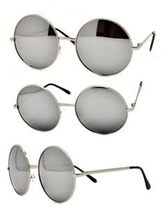 John Lennon Metal Round Mirror Sunglasses