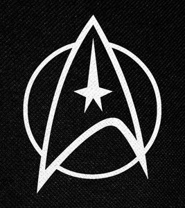 "Star Trek Logo 4x4.5"" Printed Patch"
