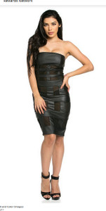 K Too - Mesh Contrast Tube Dress