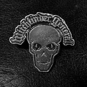 """Witchfinder General Skull Logo 3"""" Metal Badge"""