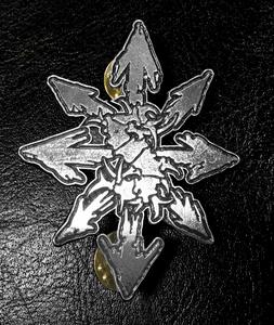 """Sepultura Chaos Logo 3"""" Metal Badge"""