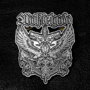 "Wolfbrigade Coat of Arms Logo 2"" Metal Badge"