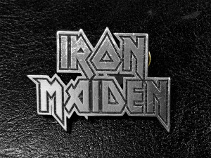 "Iron Maiden Logo 2"" Metal Badge"