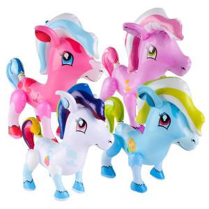 """Inflatable Rainbow Pony 20"""""""