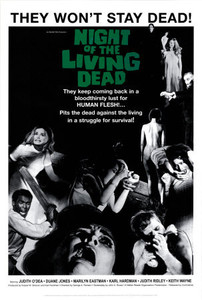 """Night of the Living Dead - They Wont Stay 24x36"""" Poster"""