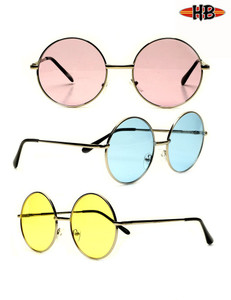 John Lennon Metal Round Color Sunglasses