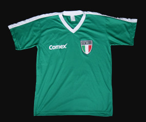 Mexico Soccer Team Comex Shirt Size Medium