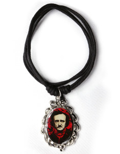 Edgar Allan Poe Cameo Necklace