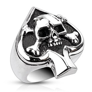 Skull and Spade Ring