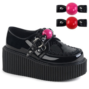 Vegan Platform Creepers Shoes with  Ball Gag Accessory