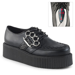 Vegan Platform Creepers Shoes with  Brass Knuckle