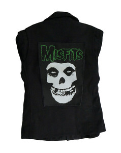 """Misfits Ghoul Green Letters 13.5X10.25"""" Color Backpatch"""