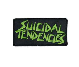 """Suicidal Tendencies - Green Letters Logo 4x2"""" Embroidered Patch"""