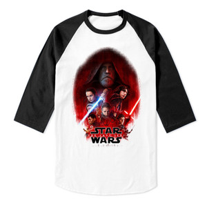 Star Wars The Last Jedi Raglan Baseball 3/4 Sleeve T-Shirt