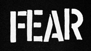 "Fear Logo 5x2.5"" Printed Patch"