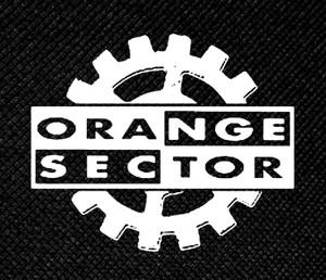 "Orange Sector Gear Logo 4x3"" Printed Patch"