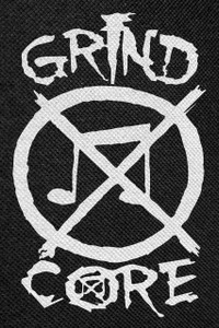 """Grindcore Logo Backpatch 12x18"""""""