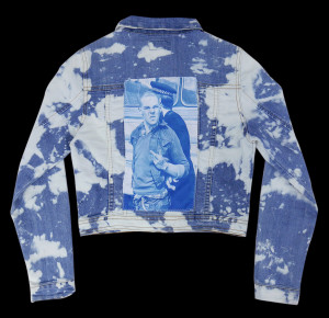 Tie Dye Skinhead Customized Denim Jacket
