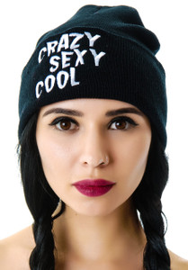 Crazy Sexy Cool Embroidered Knit Beanie