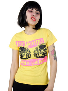 Sex Pistols Pretty Vacant Yellow Blouse T-Shirt