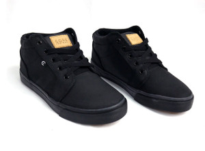 Canvas Black & Black Smith High Sneakers