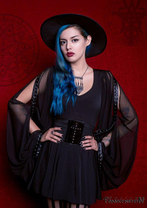 Black Salem Witch Long Dress
