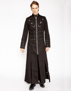 Men's Black Masters of the Universe Trench Coat