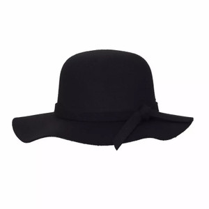 Big Wavy Womens Black Hat