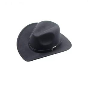 Cowboy Style Black Felt Hat