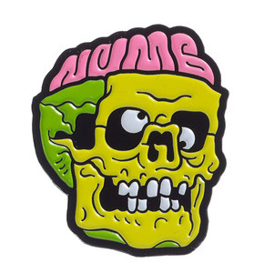 Sourpuss - Numb Skull Metal Pin 1.25""