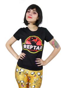 Reptar Jurassic Park Logo Blouse T-Shirt