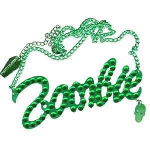 Kreepsville 666 - Green Diamonte Zombie Necklace