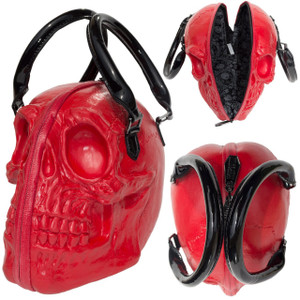Kreepsville 666 - Skull Collection Handbag Red