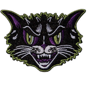 Kreepsville 666 - Kattitude Head Embroidered Patch