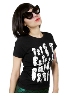 Princess Mononoke Glow in the Dark Kodama Girls T-Shirt