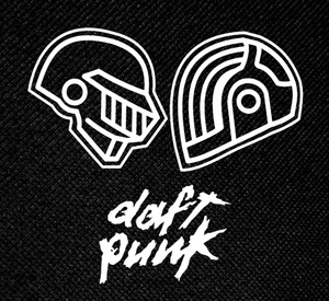 "Daft Punk Helmets 4x4"" Printed Patch"