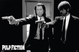 "Pulp Fiction - Vincent & Jules 36x24"" Poster"