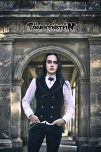 Black Velvet Goth Mens Vest
