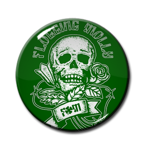 "Flogging Molly FM Skull 1.5"" Pin"